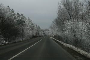 пътна обстановка път зима